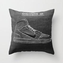 Sneaker 101 Throw Pillow