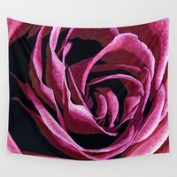 sketch Wall Tapestries featuring Rose Sketch by Stephen Linhart