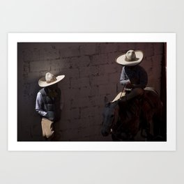 Charros meeting Art Print