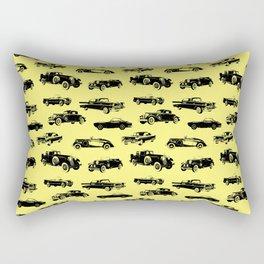 Classic Cars // Yellow Rectangular Pillow