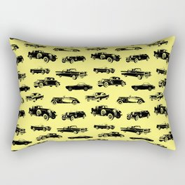 Classic Cars // Yellow Rectangular Pillow