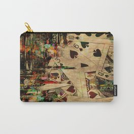 Abstract Vintage Playing cards  Digital Art Carry-All Pouch