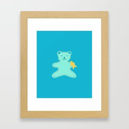 Turquoise Bear Framed Art Print