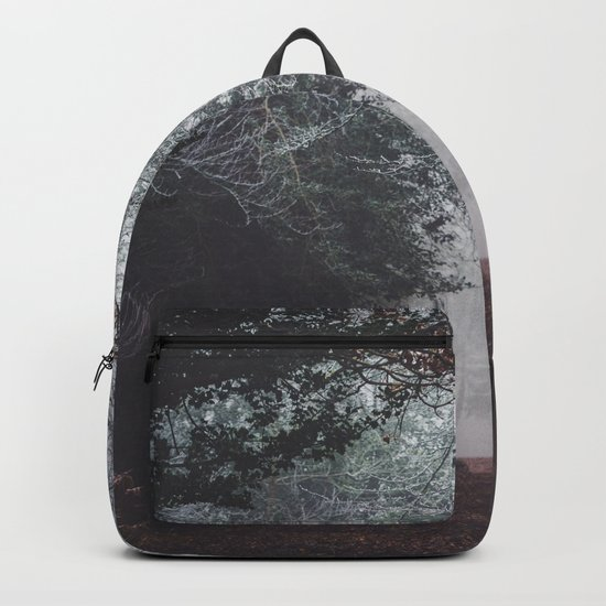 Dark fog forest Backpack