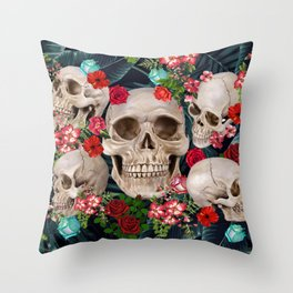 tropical scary  Throw Pillow