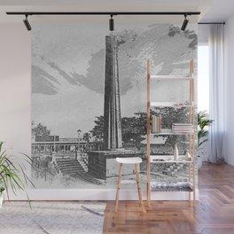 park obelisk sketch Wall Mural
