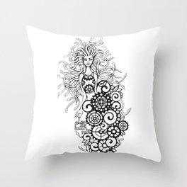 Medusa - play with me! Throw Pillow