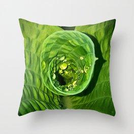Spiral Drops Throw Pillow