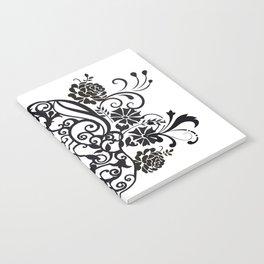 SKULL FLOWER 02 Notebook