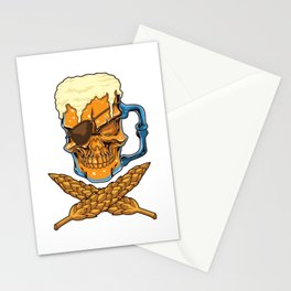 Beer Skull - Brewer Pirate - Brewery Stationery Cards