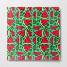 Quartermelon Metal Print
