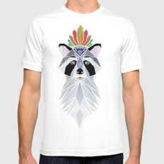 raccoon spirit Mens Fitted Tee X-LARGE White