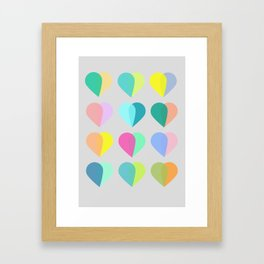many hearts Framed Art Print