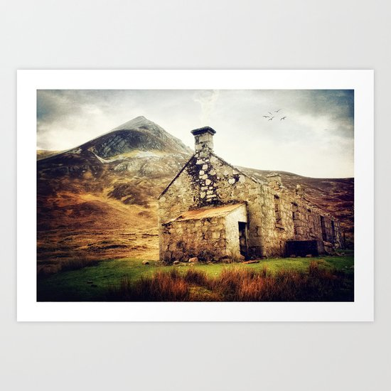 Bothy in the Highlands Art Print