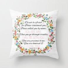 Isaiah 43: 1-4 Throw Pillow