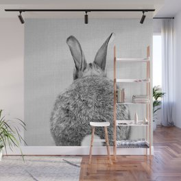 Rabbit Tail - Black & White Wall Mural
