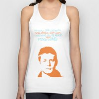 dean winchester Tank Tops featuring Dean Winchester w/ quote by Jess Symons