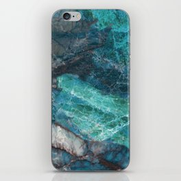 Cerulean Blue Marble iPhone Skin