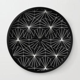 Hexagonal Pattern - Black Concrete Wall Clock