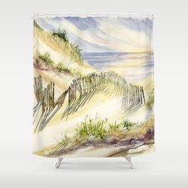 Shoreline Dune Shadows  Shower Curtain