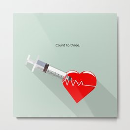 Shot to the heart - Pulp fiction Overdose Needle Scene needle for injection  Metal Print