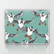 Atlantic Puffins mint Laptop & iPad Skin