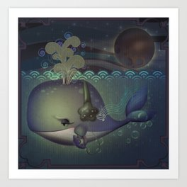 Music and the Whale Art Print