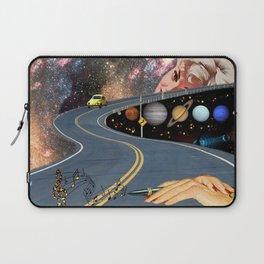 Composing on the Road. *Futuristic / Sci-Fi Surreal Digital Collage.* Laptop Sleeve