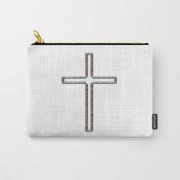 Chrome Crucifix Hollow Carry-All Pouch