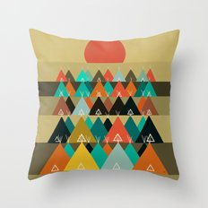 Tipi Moon Throw Pillow
