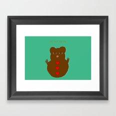 Be my bear Framed Art Print