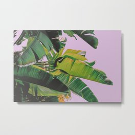 Banana Leaves I (Lavender) Metal Print