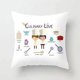 Culinary Love Throw Pillow