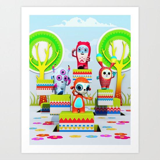 Pixy Wonderland Art Print