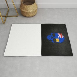 Flag of Turks and Caicos on a Chaotic Splatter Skull Rug