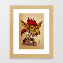 Goblin treasure Framed Art Print