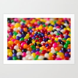 Rainbow Jelly Beans Candy Art Print