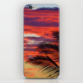 pomegranate sunset iPhone Skin