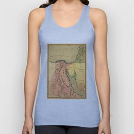 Vintage Map of Egypt (1800) Unisex Tank Top