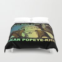 popeye Duvet Covers featuring POP ICON / POPEYE-KHAN 025 by Lazy Bones Studios