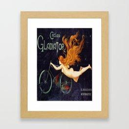 Vintage poster - Cycles Gladiator Framed Art Print