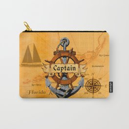 Captain Anchor And Ship Helm Carry-All Pouch