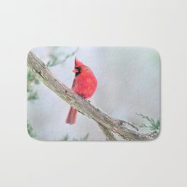 "Cardinal: ""Do You Hear What I Hear?"" Bath Mat"