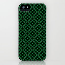 Interlocked Rings in Green iPhone Case