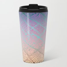 Pink Beige Elephant Skin Metal Travel Mug
