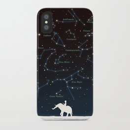 Falling star constellation iPhone Case