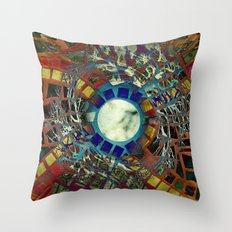 Mosaic Abstract 2 Throw Pillow