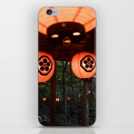 Japanese paper lanterns in the forest iPhone Skin