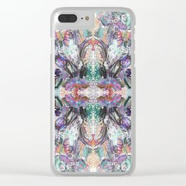Psychedelic Positive Notes Clear iPhone Case