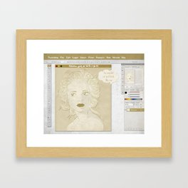 Pretty on the Inside Framed Art Print